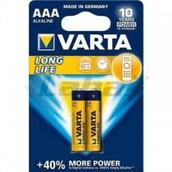 BAT. VARTA LONGLIFE MICRO LR03 1,5V AAA 2KS BLISTE