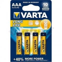 BAT. VARTA LONGLIFE EXTRA 4103 LR03 1,5V AAA 4ks B