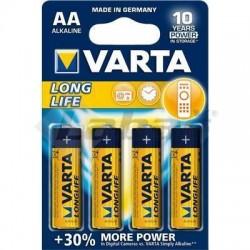 BAT. VARTA LONGLIFE EXTRA 4106 LR6 1,5V AA 4ks BLI