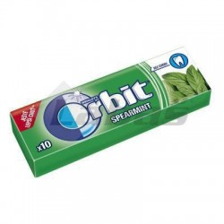 ŽUV. ORBIT SPEARMINT 14g DRAŽÉ/15974/ ZELENÉ